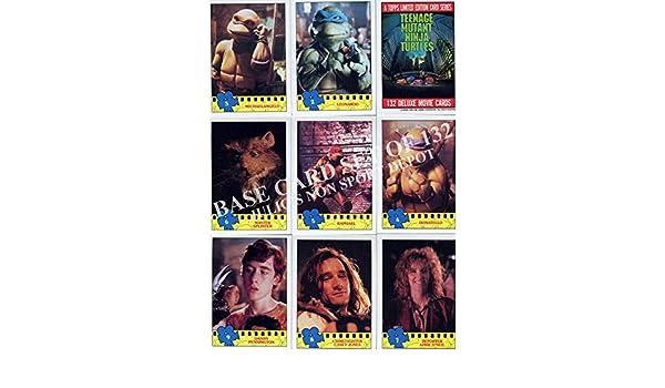 11 TEENAGE MUTANT NINJA TURTLES MOVIE 1 1990 TOPPS BASE CARD /& STICKER SET 132