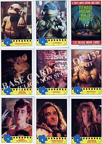 TEENAGE MUTANT NINJA TURTLES MOVIE 1 1990 TOPPS BASE CARD + STICKER SET 132 + 11 ()