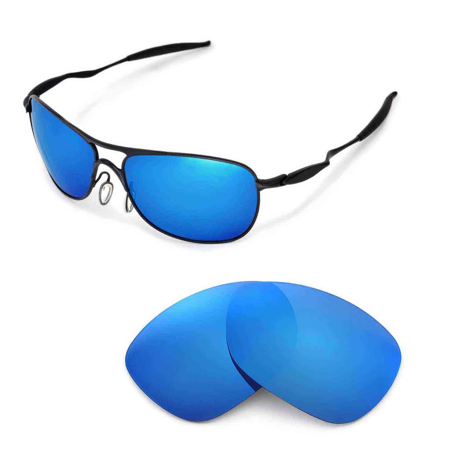 4e3f31a9a9c Walleva Replacement Lenses for Oakley Crosshair (2012 or later) Sunglasses  - Multiple Options (Ice Blue Coated - Polarized)  Amazon.ca  Sports    Outdoors