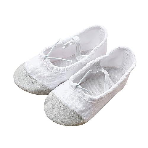 c7d39491520 Zapatos de Ballet Elásticos de Lona Zapatos de Baile para Niñas Mujeres  Niños Pequeños Adulto Damas Hombres Chicas en Diferentes Tamaños   Amazon.es  Zapatos ...