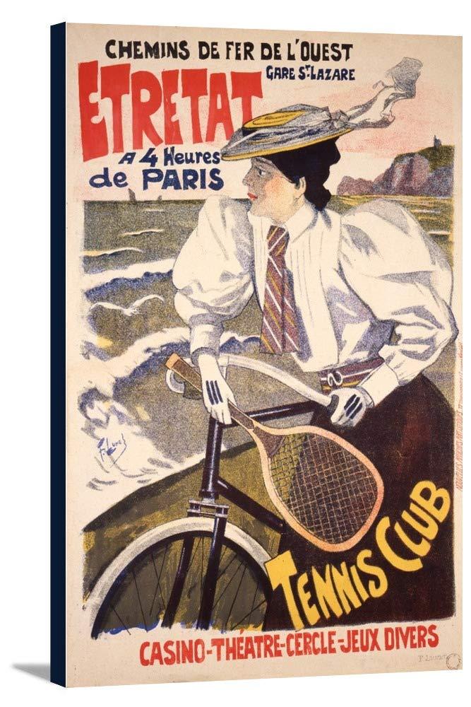 エトルタヴィンテージポスター(アーティスト: Lunel )フランスC。1896 11 7/8 x 18 Gallery Canvas LANT-3P-SC-74932-12x18 B01EBQIVSG  11 7/8 x 18 Gallery Canvas