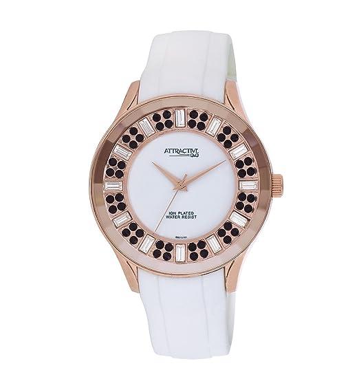 Q&Q DB31J101 - Reloj para mujeres, correa de silicona