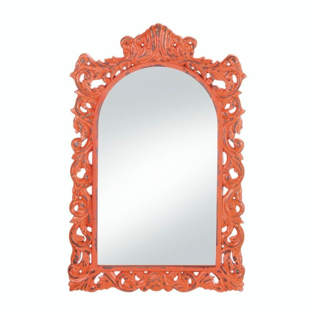 Wall Mirrors, Antique Girls Bedroom Decorative Stylish Etched Wall Mirror(org)