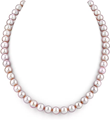 Charming 7-8mm White Pink Multi-colored Akoya Cultured Pearl Necklace AAA+