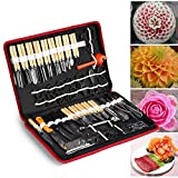 Zerone 80PCS/Set Culinary Carving Peeling Tools Kit for Fruit Vegetable Garnishing Cutting Slicing