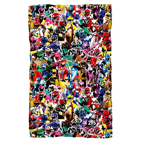 Power Rangers Crowd of Rangers Fleece Blanket (Power Rangers Blankets)