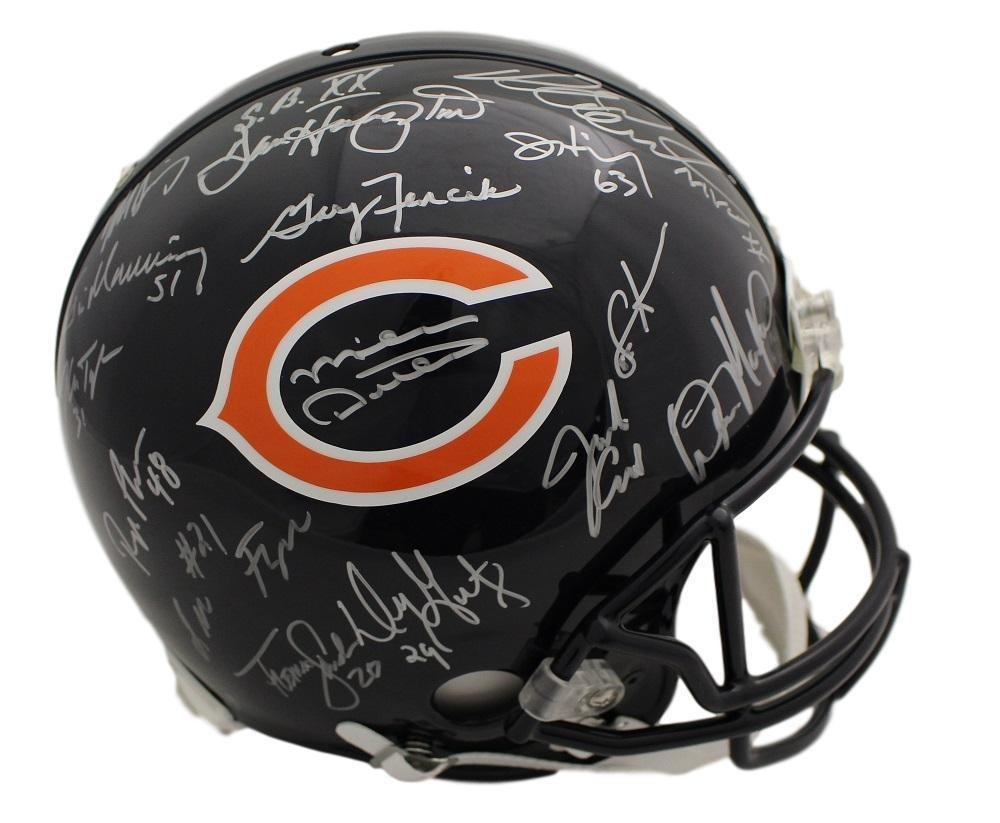 1985 Chicago Bears Autographed Chicago Bears Proline Helmet Ditka +29 21770 - Autographed NFL Helmets Denver Autographs