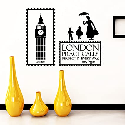Amazoncom Wall Decals Quotes Mary Poppins London Practically