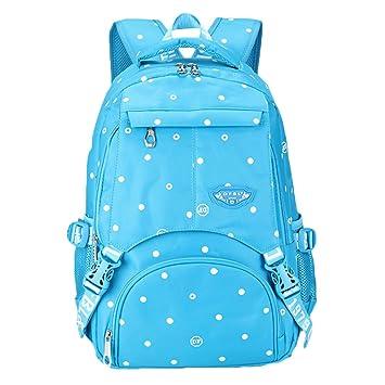 Casual Mochila Para Mujer Oxford Mochilas Escolares Universidad Bolsas De Camuflaje Azul Punto: Amazon.es: Equipaje