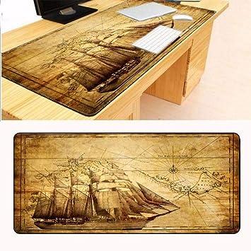 lbonb 900X400X2 Mm Mapa del Barco Personalización Soporte Teclado ...