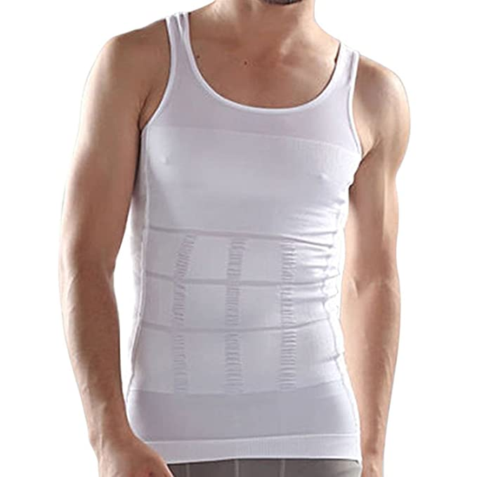 5c6b06b679ef Amazon.com: RujulWear Men Body Slimming Tummy Shaper Vest Belly Waist  Girdle Shirt Underwear Shapewear: Sports & Outdoors