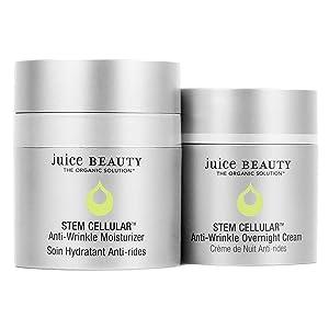 Juice Beauty Juice Beauty Stem Cellular Day & Night Duo - Anti-Wrinkle Moisturizer (1.7 Fl Oz) Anti-Wrinkle Overnight Cream (1.7 Fl Oz) - Two Product Set, Vegan & Made with Organic Ingredients, 2 ct.