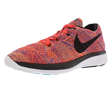 9d607045ebb2 Image Unavailable. Image not available for. Color  Nike Flyknit Lunar 3  Running ...