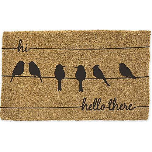 - Evergreen Flag Hi Hello There Woven Back Coir Floor Mat