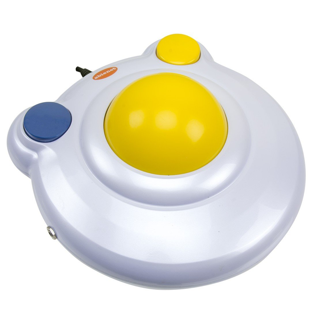BIGtrack 2.0 Trackball - for Users who Lack Fine Motor Skills to Use a Mouse. A Big 3'' Trackball with 2 Blue (Left and Right Mouse) Buttons -#12000006 by Ablenet