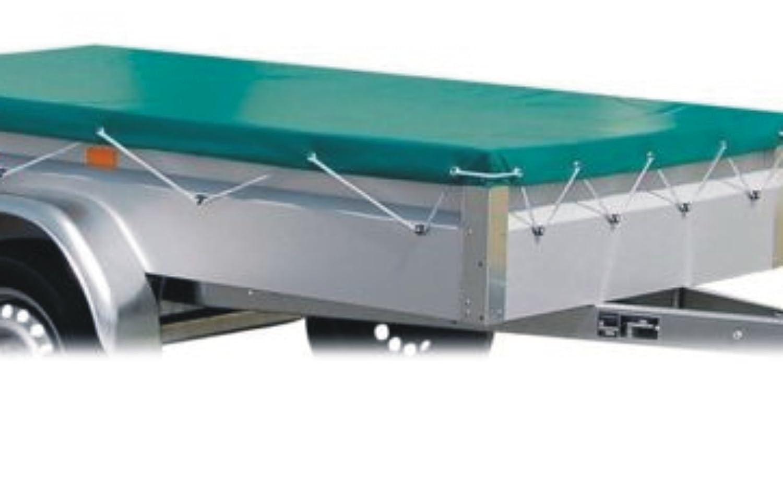 1,10 x 1,75m gr/ün MASTERP Anh/änger-Plane Universal-Abdeckplane optimal zum Abdecken und Abspannen