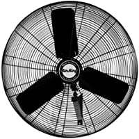 Air King 9030 30-Inch 1/4-Horsepower Industrial Grade Wall Mount Fan with 7,400-CFM, Black Finish