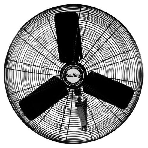 Air King 9024 24-Inch Industrial Grade Wall Mount Fan, 1/4-Horsepower, Black - King Grill Air Wall Mount