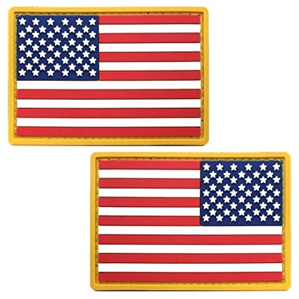 Bundle American Flag PVC Patch - USA Flag Patch United States of America  Military Uniform Tactical f79488772289