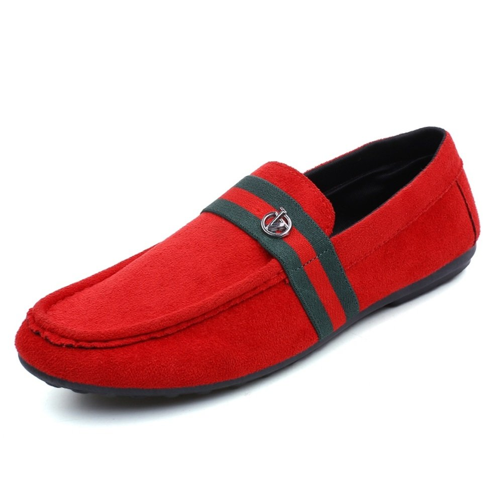 Amazon.com | HUAN Mens Shoes Spring Fall Comfort Loafers & Slip-ONS for Casual Office & Career Outdoor Canvas Shoes Black Red | Loafers & Slip-Ons