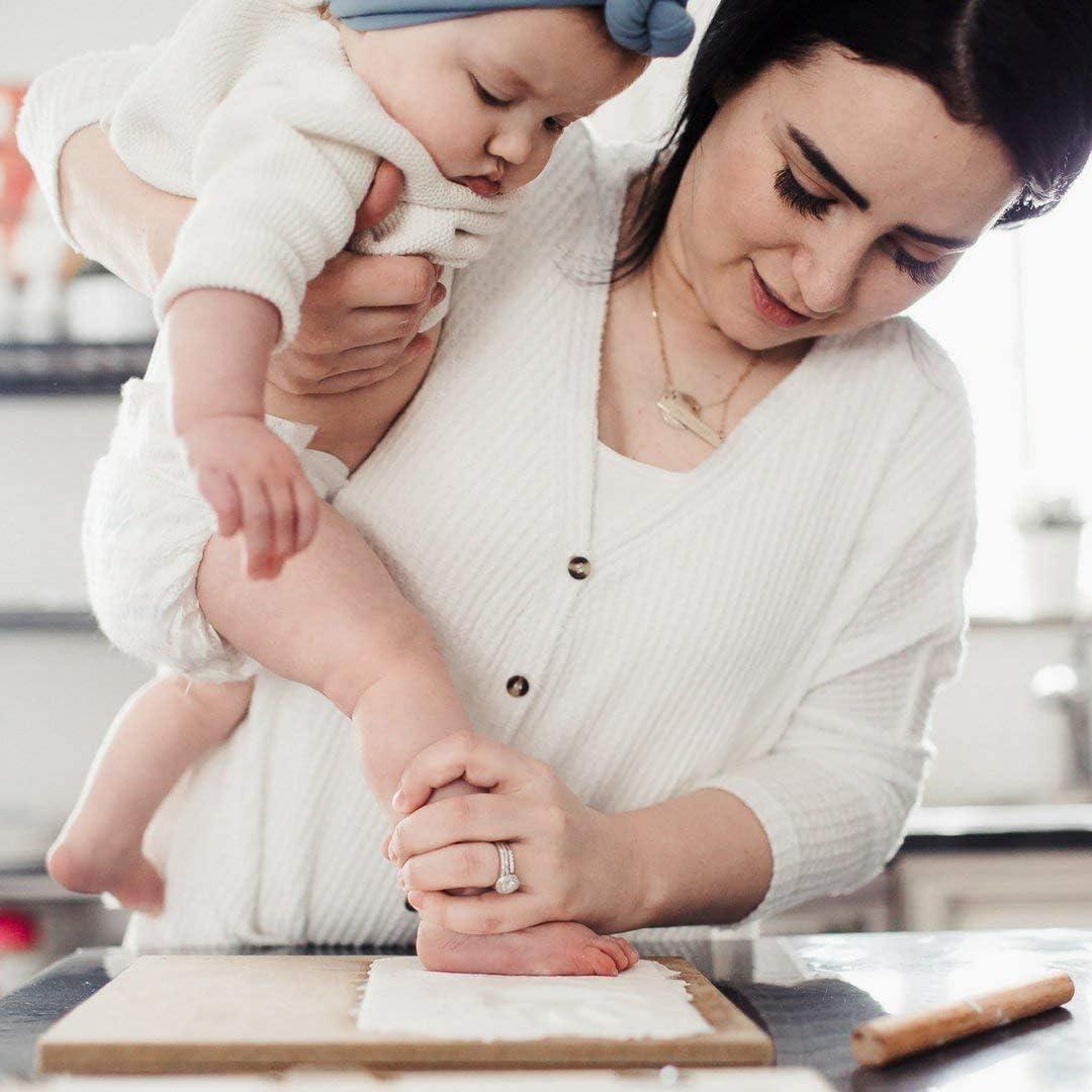 Baby Handprint Footprint Keepsake Kit Marco blanco Baby Shower Picture Frames for Baby Registry Ni/ños Baby Nursery Memory Art Frame Frames Ni/ñas Baby Prints Photo Frame for Newborn