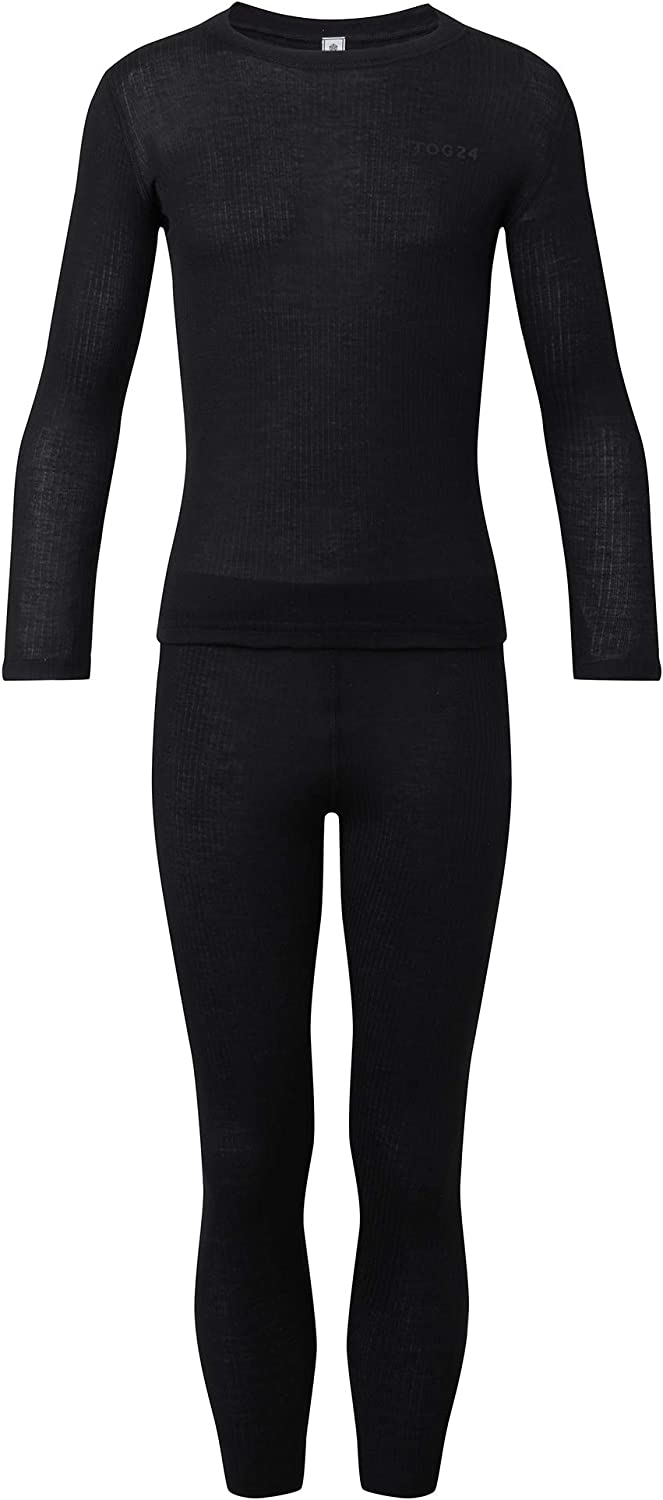 Perfect for Skiing Anti Chafe Crew Neck Top and Leggings with Quick Moisture Wicking 2 Piece Set Temperature Regulating Lightweight Stretchy Thermal Underlayers TOG 24 Scafell Kids Set Base Layers