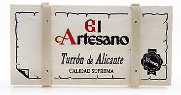 El Artesano Crunchy Almond Alicante Turron in Wooden Case (Turron de Alicante Duro) 7