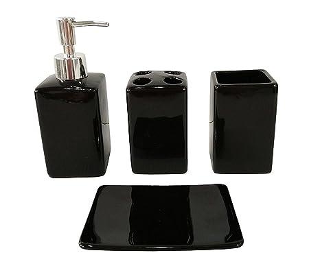 Set Da Bagno Moderno : Fingey set di accessori da bagno in ceramica dal design moderno