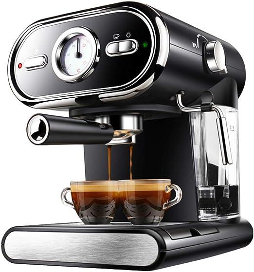 DGYAXIN Máquina de Espresso, Cafetera Espresso Steam & Pump 20 Bar de presión/Termómetro observable/1 litros/1000 vatios/Espuma de Leche de Vapor para el Hogar/Oficina - Negro: Amazon.es: Hogar