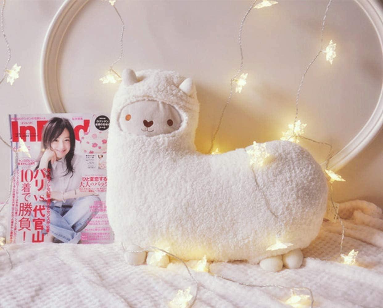 Beige Ryouda Baby Stuffed Animals Aunt Merry Mokomoko Llama Alpaca Hug Pillow Cushion Doll