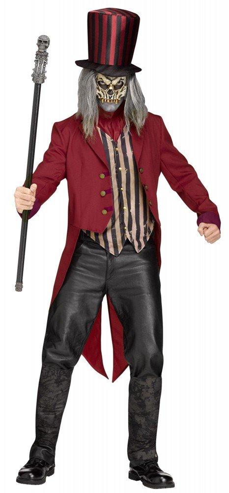 ordene ahora los precios más bajos shoperama Freak Show Show Show Ring Master Hombre Disfraz de espantapájaros Horror Director de Circo Halloween dompteur Esqueleto Zombie  marca