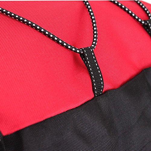 Para Bolsas 60l Sillines Doble Anself De La Con Bicicleta Lluvia Rojo Cubierta Bolsa RXgdwZxt
