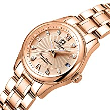 CARNIVAL Women's Automatic Mechanical Watch Fashion Rose Gold Dress (Rose Gold)