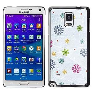 rígido protector delgado Shell Prima Delgada Casa Carcasa Funda Case Bandera Cover Armor para Samsung Galaxy Note 4 SM-N910F SM-N910K SM-N910C SM-N910W8 SM-N910U SM-N910 /Snow Winter Gift Christmas/ STRONG