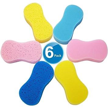 Amazon.com: 6 esponjas de lavado de coche, esponjas ...