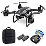DEERC Drone with Camera for Adults 2K Ultra HD FPV Live Video 120° Wide Angle, Altitude Hold, Headless Mode, Gesture Selfie,