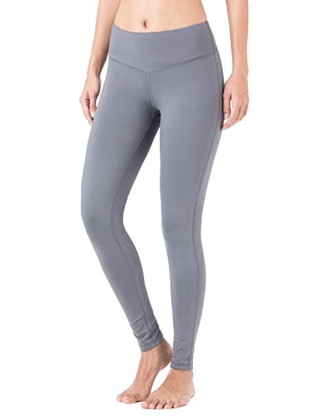 801c0987d98c6 NAVISKIN Women's Fleece Lined Leggings Slimming Warm Thermal Tights Yoga  Pants Inner Pocket Grey Size M