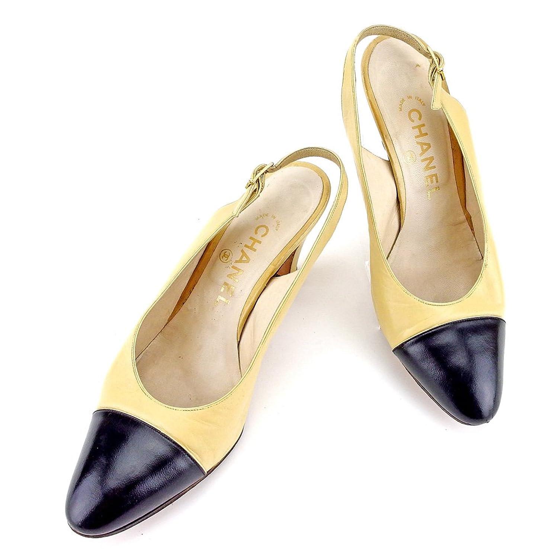 [シャネル] CHANEL パンプス シューズ 靴 レディース スリングバック バイカラー 中古 T4225 B0789VPLKV