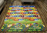 Cell Glove, Kid Play Mat Foam Floor Gym - Non-Toxic Non-Slip Reversible Waterproof, Large, Safe, and Fun! Train Model