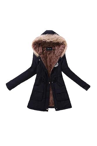 Casual con capucha lana abrigo abrigos de la mujer con la piel