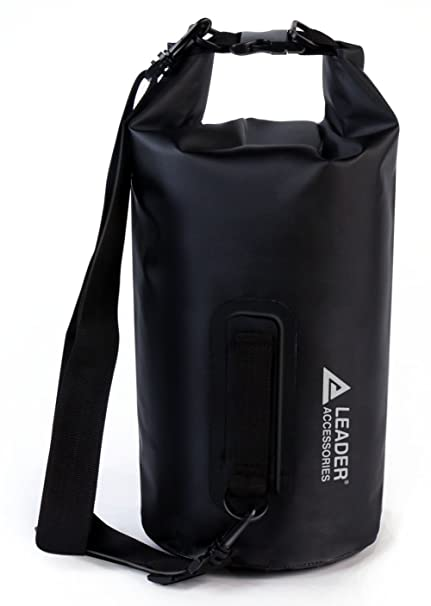 Leader Accessories New Heavy Duty Vinyl Waterproof 5L Black Dry Bag for  Boating Kayaking Fishing Rafting 0b81cf939397f