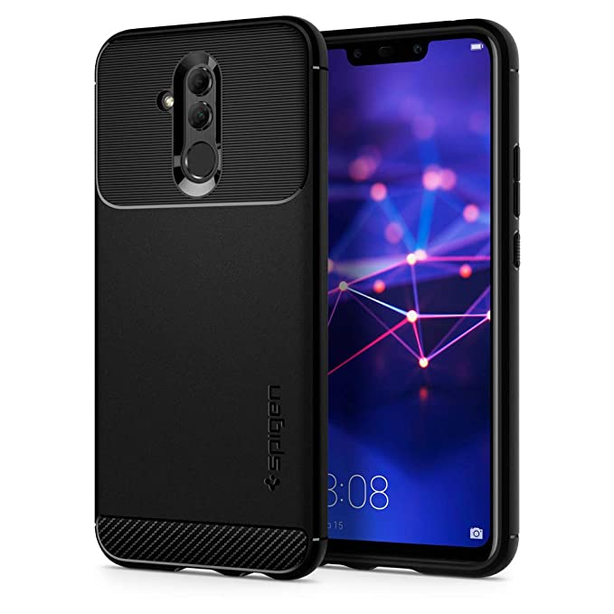 comprare popolare e4a39 be007 Spigen [Rugged Armor] Case Compatible for Huawei Mate 20 Lite, Original  Patent Black Carbon Fiber Design Flexible Slim TPU Phone Cover for Huawei  Mate ...