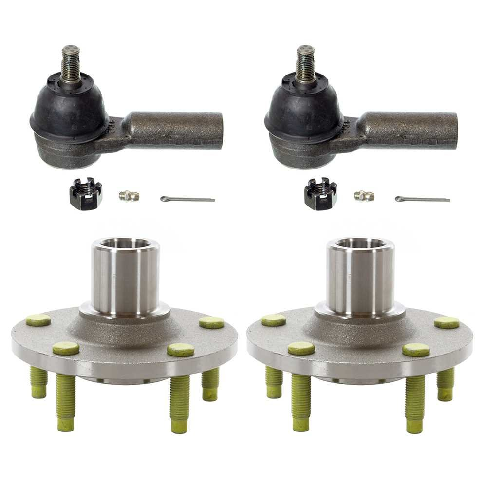 Prime Choice Auto Parts TRKHB30588517 Set of 2 Front Hub Bearings and 2 Front Outer Tie Rods