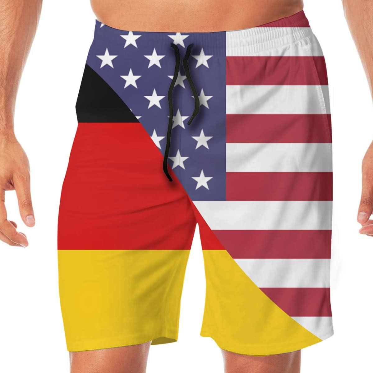 STDKNSK9 Mens Norway USA Flag Boardshorts Swim Trunks