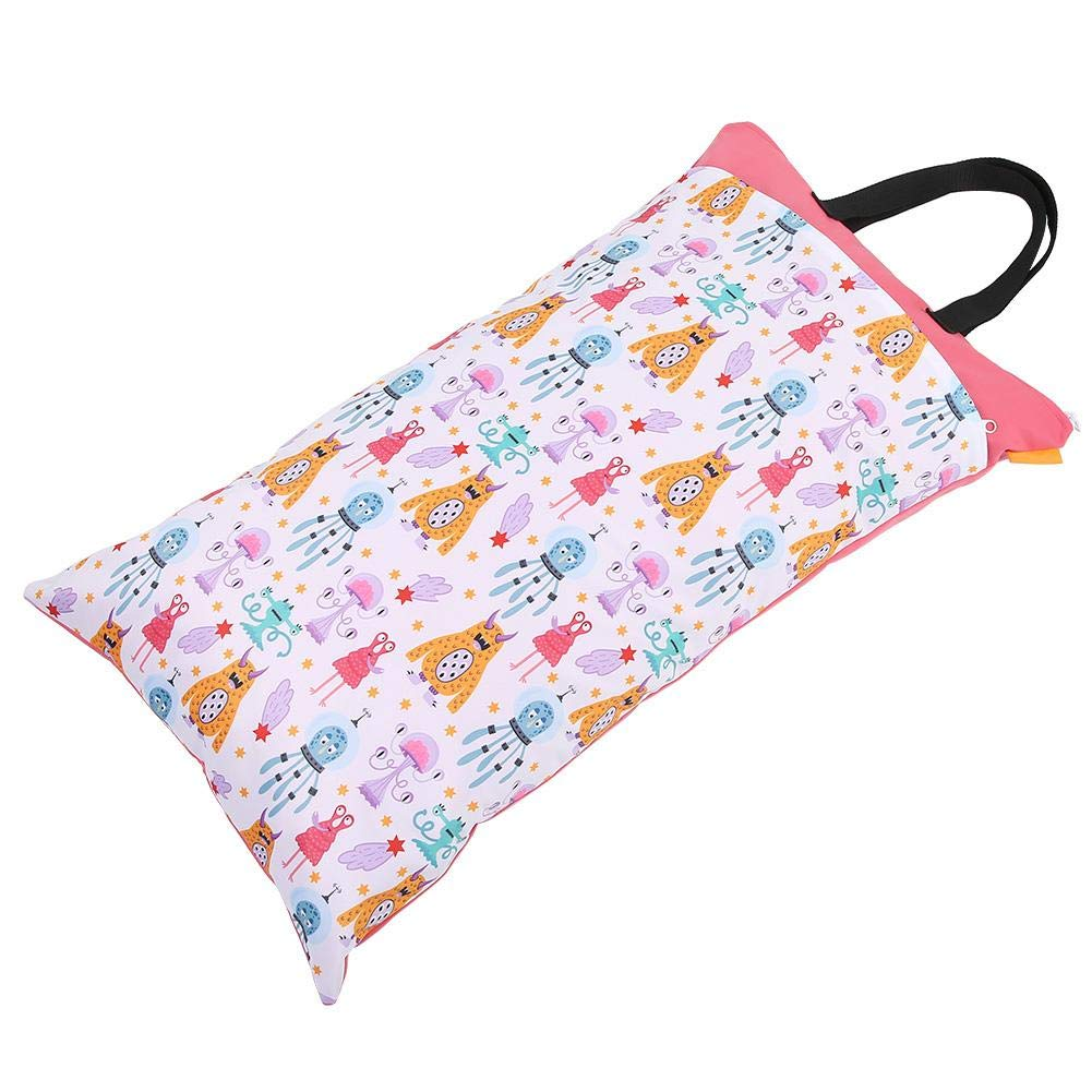 EF204 Diaper Bag Waterproof Large Capacity Hanging Wet Dry Cloth Baby Inserts Nappy Laundry Storage Bag for Newborn Infants