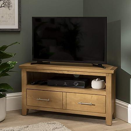 Mueble grande para TV de plasma, DVD y vídeo, viene montado, de Nebraska Oak: Amazon.es: Hogar