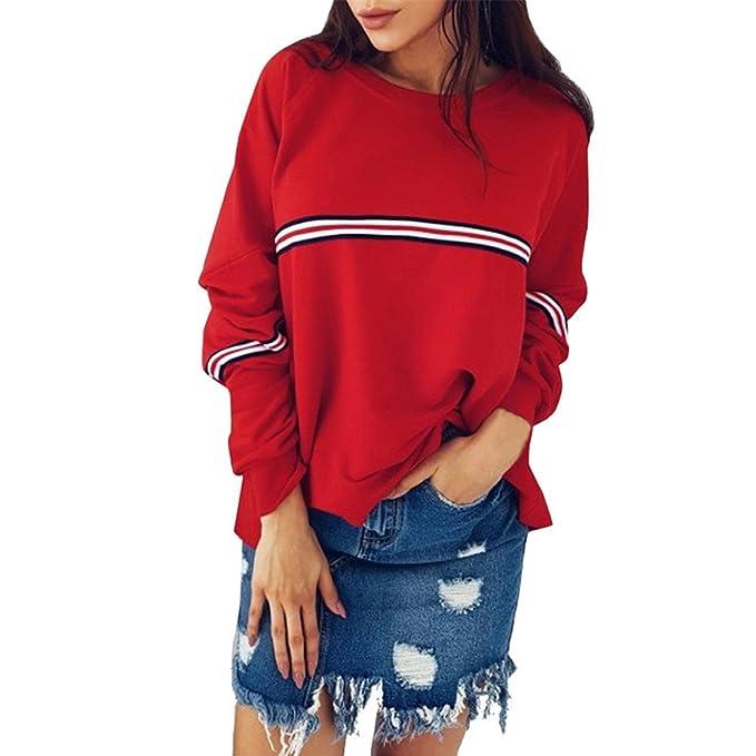 05e9211c63c Mose New Fashion Women Plus Size Casual Long Sleeve O-Neck Sweatshirt  Pullover Bat Shirt