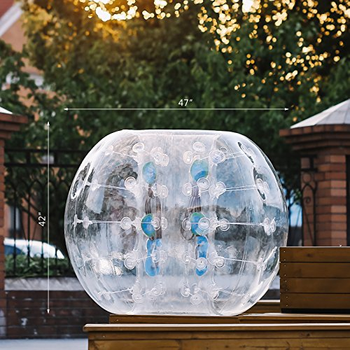OrangeA Inflatable Bumper Ball Diameter 1.2M Bubble Soccer Ball 0.8mm PVC Transparent Material Zorb Ball for Adults and Kids (2 Pcs ) by OrangeA (Image #2)