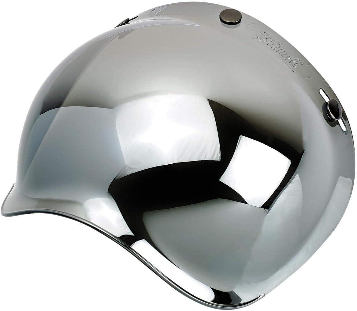 Biltwell unisex-adult (BS-CHR-AF-SD) Bubble Shield-Chrome Mirror-Anti-Fog, One Size