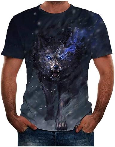 DEELIN Camiseta para Hombre Camisetas Manga Corta Top Verano Nuevo 3D Impreso más tamaño Blusa Fresca: Amazon.es: Ropa y accesorios